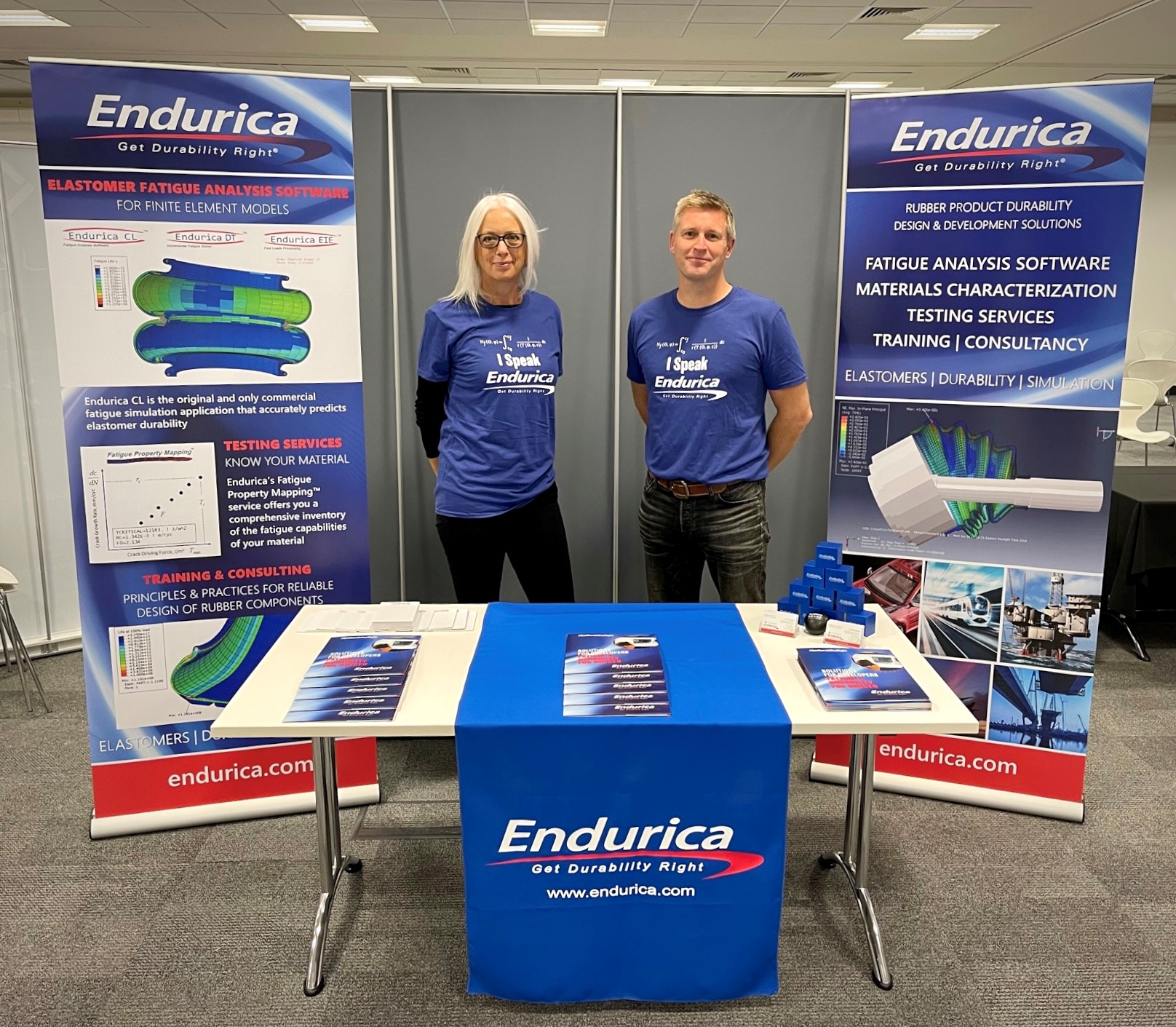 Endurica Booth at Engineering Integrity Society 2021 - Rubber Heart